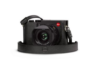 Leica Cinghia a tracolla, in pelle, black